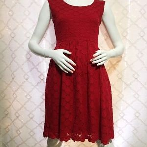 Ronni Nicole Red A Line dress size 6 knee length